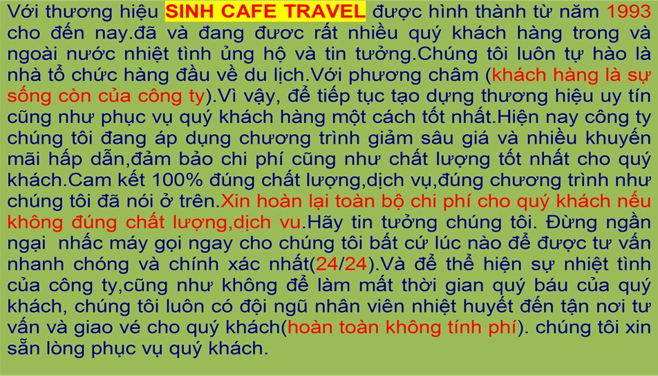 sinhcafe travel